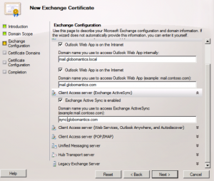 New Exchange Certificate