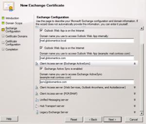 New Exchange Certificate