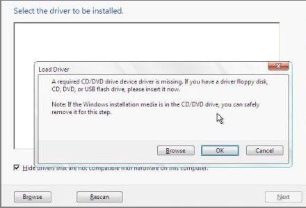 Dell Latitude 3450 cannot install windows 7 with samsung se-208 DVD driver missing