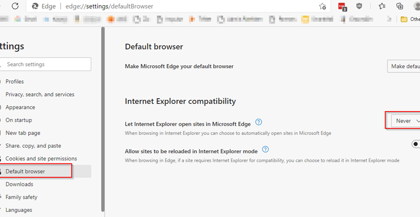 Solved – cannot open www.office.com with Internet Explorer – SharePoint Online redirects to Edge